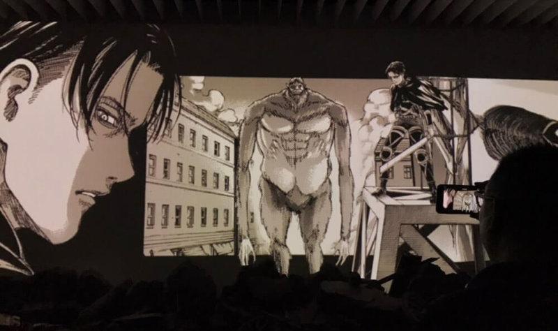 進撃の巨人展のジオラマシアター