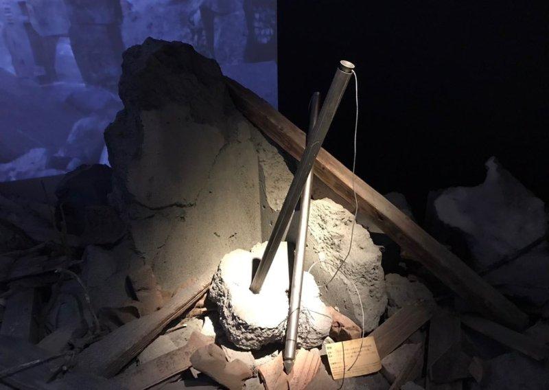 進撃の巨人展の雷槍