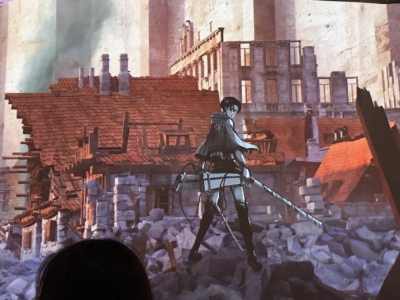 進撃の巨人展「ジオラマシアターのリヴァイ兵長」