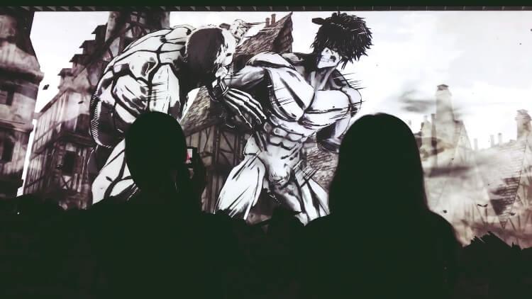 進撃の巨人展FINAL「ジオラマシアターの映像」