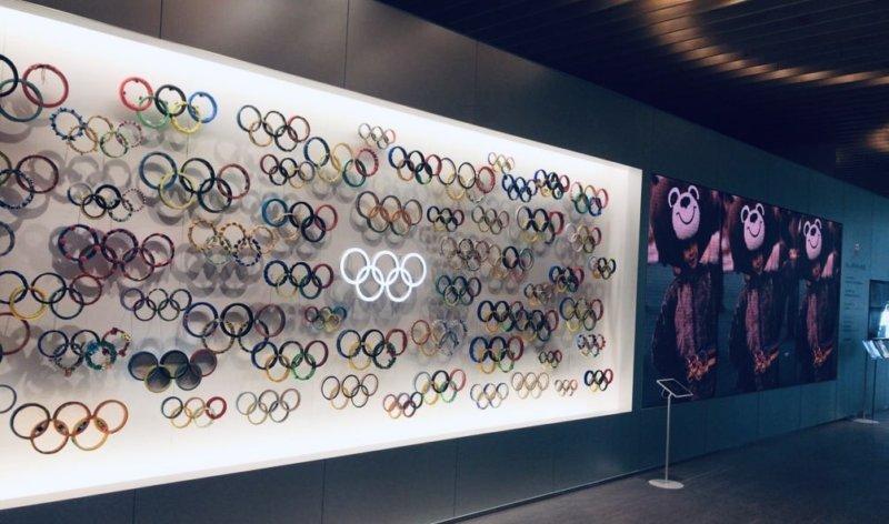 日本オリンピックミュージアムの内部